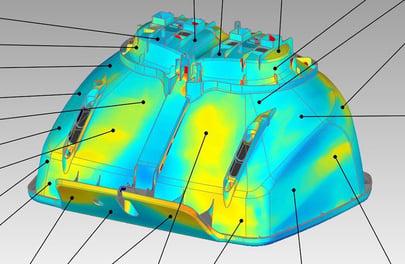 3D scan of part built on UnionTech SL equipment