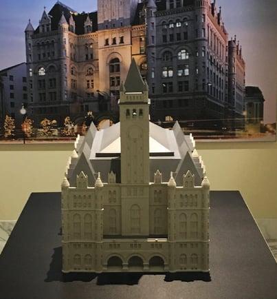 Architectural model built using UnionTech SL equipment
